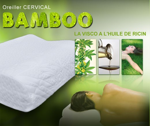Oreiller Cervical - Visco Bambou